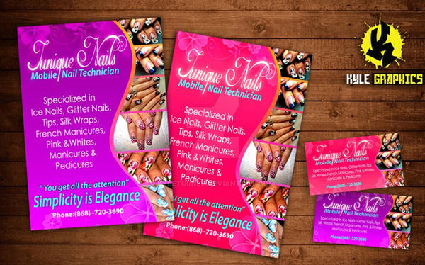 Junique nail tech business cards and flyers by kyleturner on junique nail tech business cards and flyers by kyleturner colourmoves