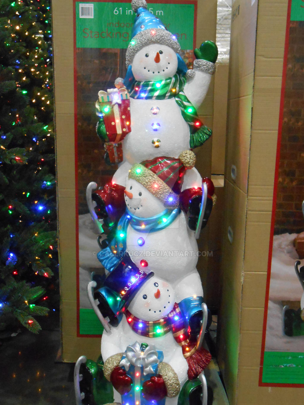 Snowman christmas decoration at costco by callrkucz on