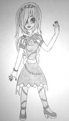 Human Jillian Skellington (Redraw - Sketch) by Selkina2000