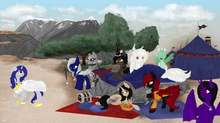 [Request] Nightponies camp in desert