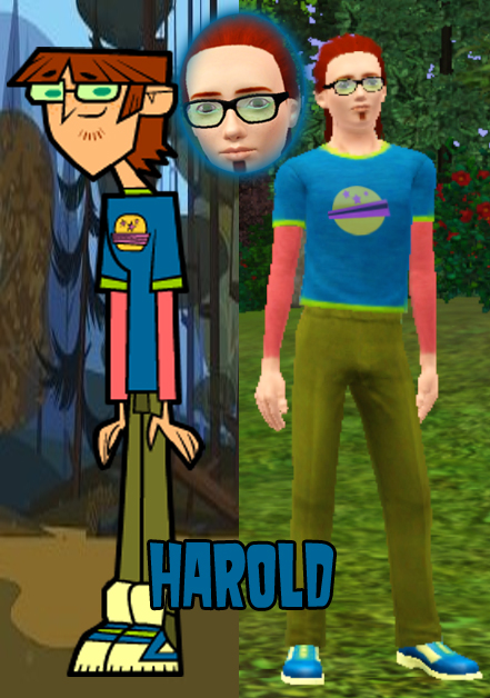 Sims 3 Cartoon Characters : Harold the sims by lucemon on deviantart