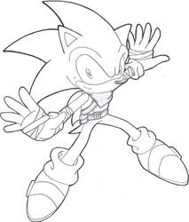 Sonic The Hedghog my version #2 by gwencarson