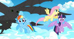 Flying with friends by opulencesky