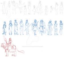 Character Design Practice Sheet for Kakumei