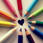 Rainbow Colored Pencils by MidnightCorset
