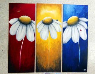 Panel of Daisies by Akira-Miyashi