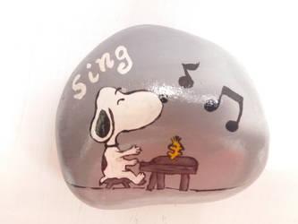 Snoopy the Pianist by Akira-Miyashi