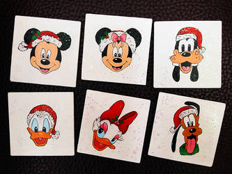 Disney Holiday Coasters by Akira-Miyashi