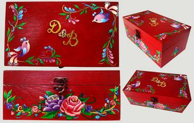 Floral Wedding Box Details by Akira-Miyashi