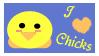 I heart Chicks stamp by MudCatWarrior