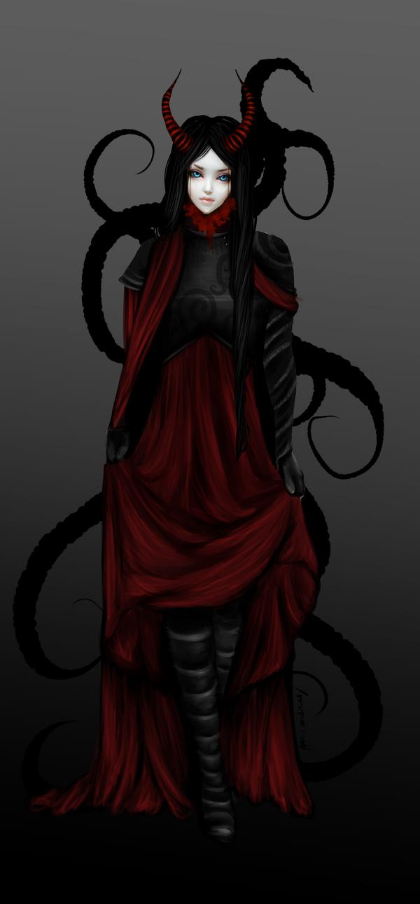 Scarlets Daemon Form by Athenas-Sanctuary