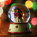 Christmas inside a bubble