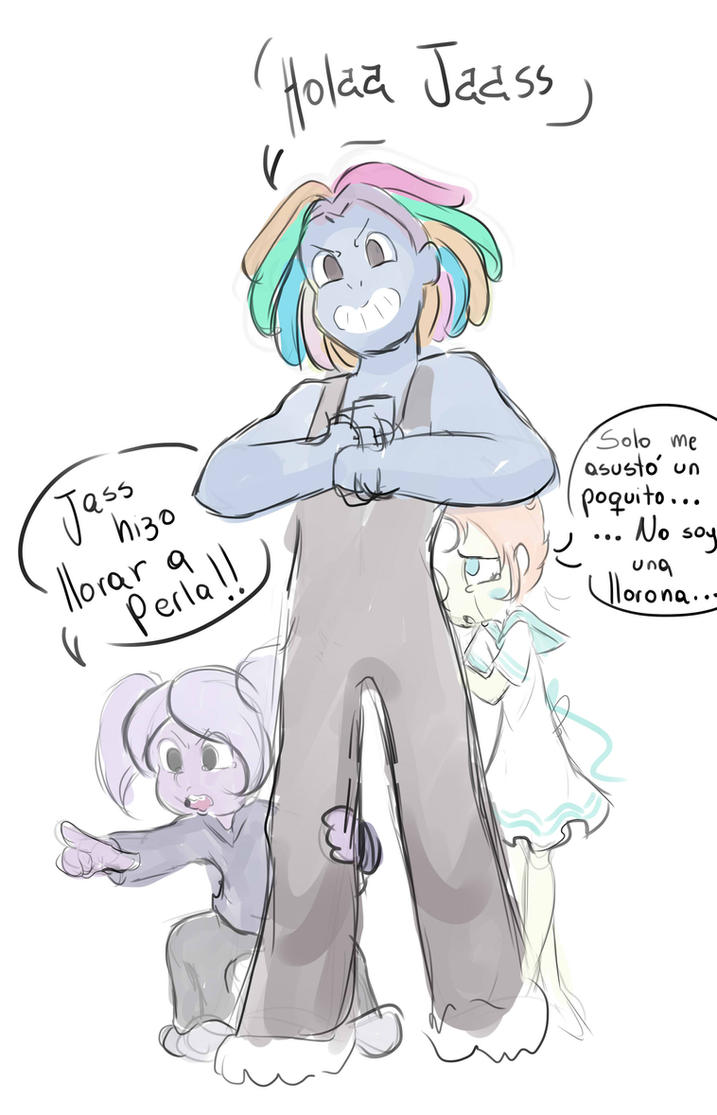 Litle Gems: Bismuth, Amehtys and Pearl by Angie-MR