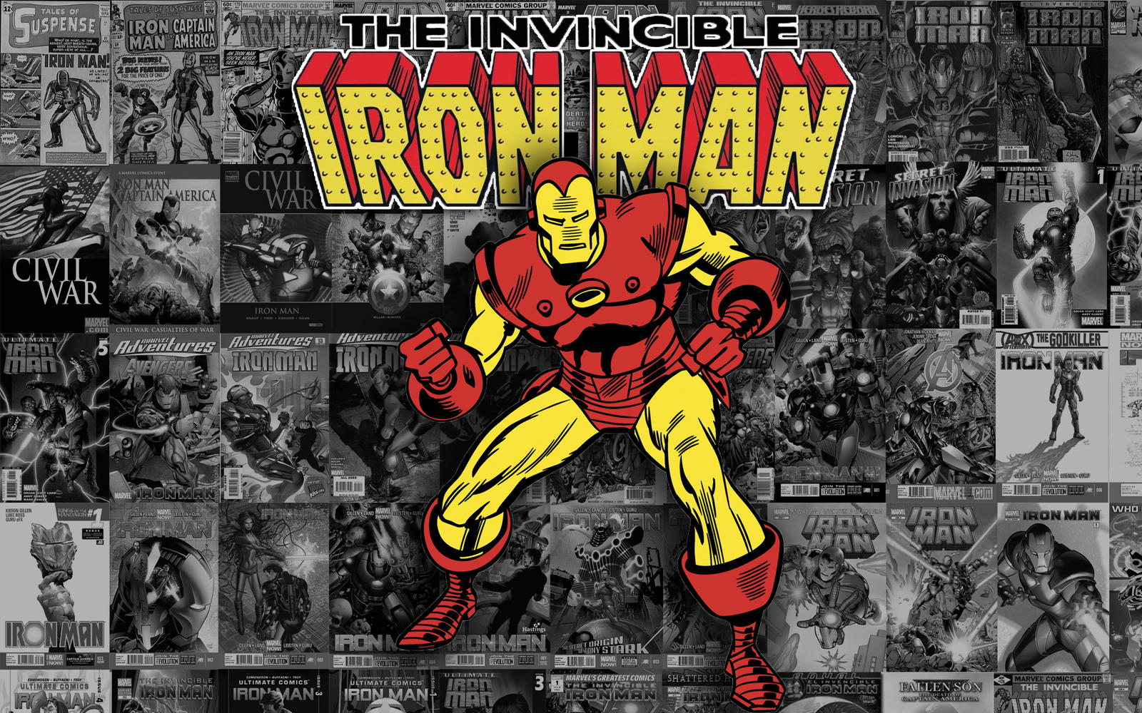 Vintage iron man wallpaper by sorandompokemonstuff on - Marvel retro wallpaper ...