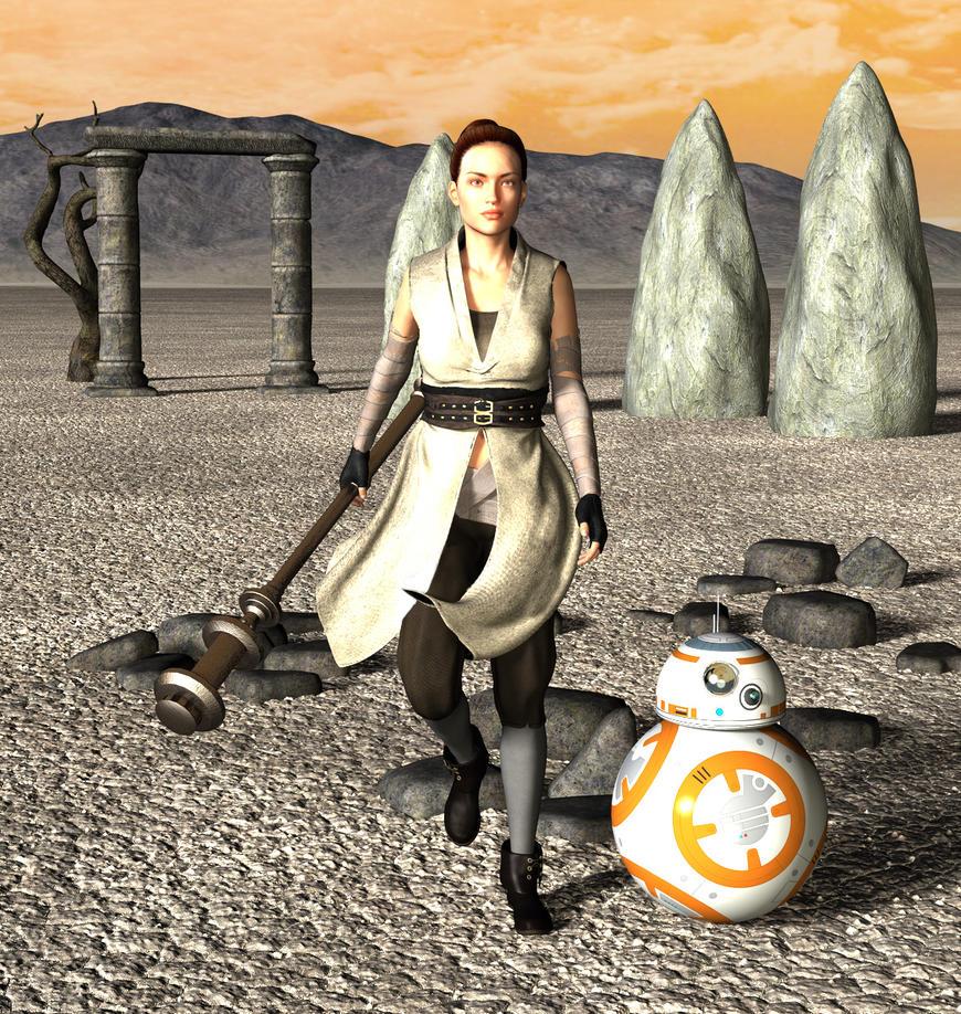 Rey 'n' BB8 by LuckyLilith