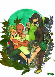 Human Nature: Lgbt+ Green by human1123