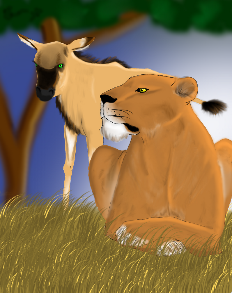 Saved By The Lioness by Celtic-Tigeress