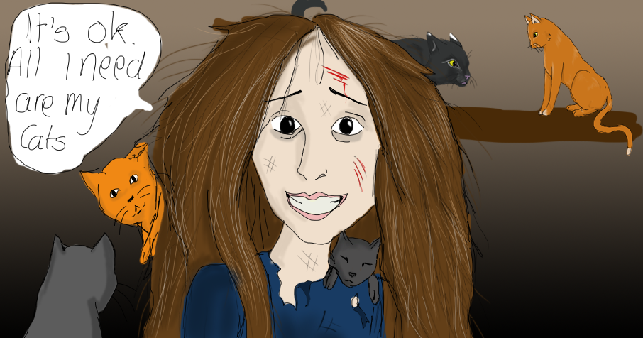 Crazy cat lady... by Celtic-Tigeress