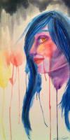 Watercolor// captivating stare