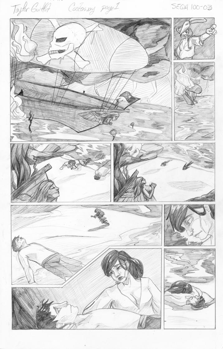 Castaway Comic page 1 by tguillot