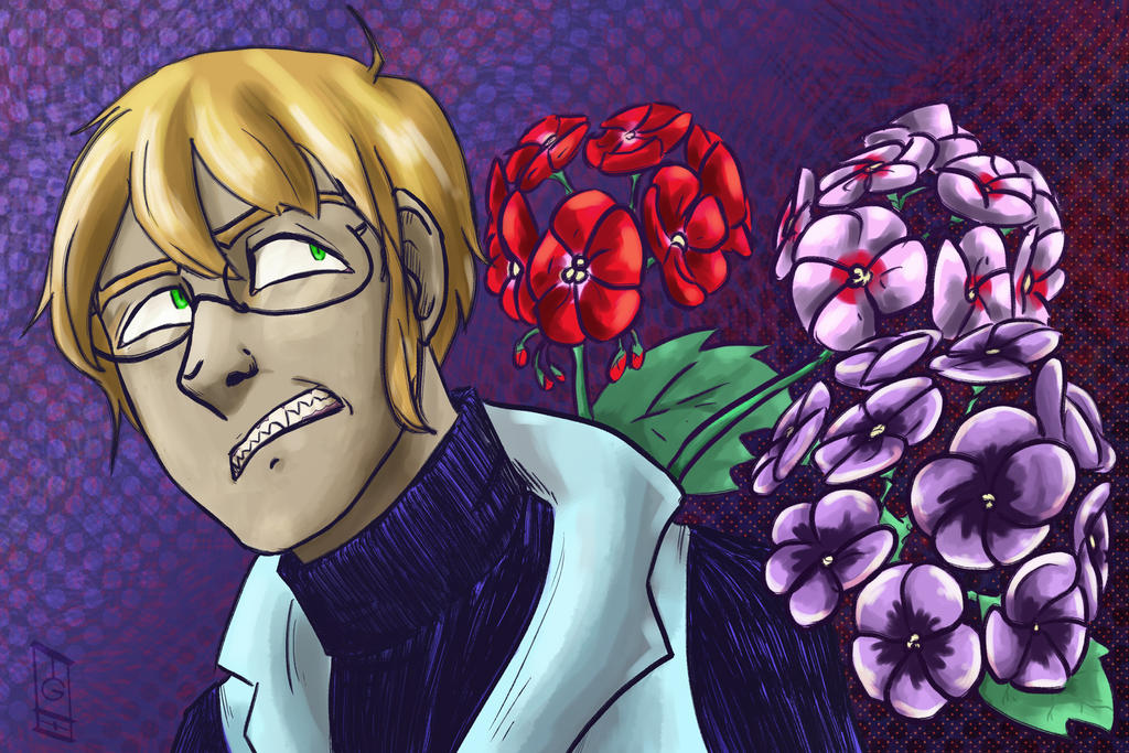 Kristoph + Geraniums by tguillot