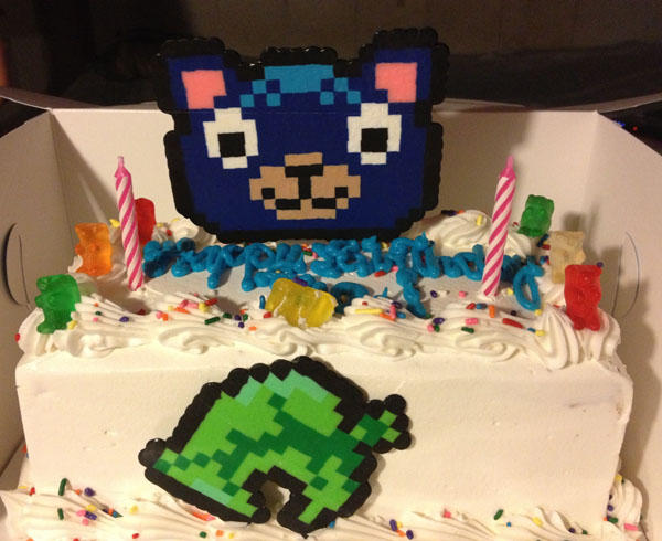 Animal Crossing Poncho Birthday Cake By Evilium