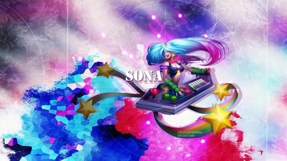 Sona League Of Legends Wallpaper By Orangevampire0