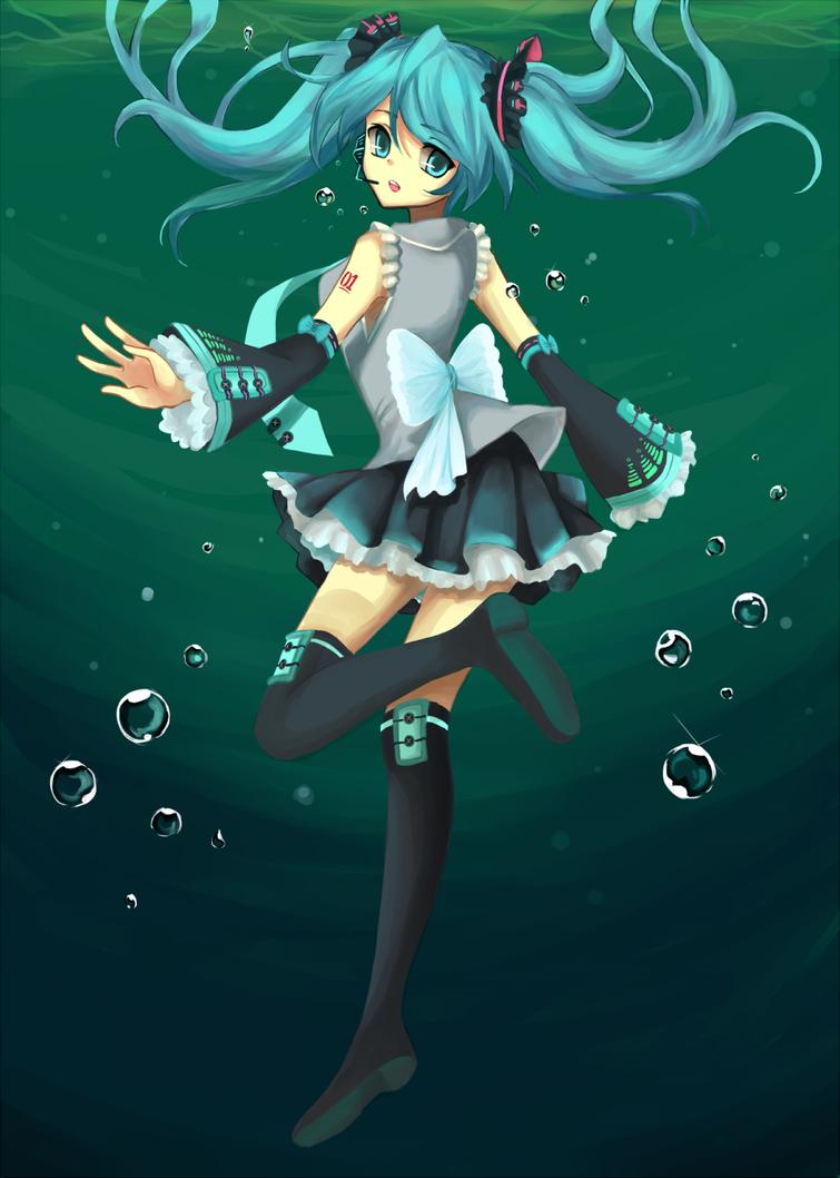 Underwater Miku by Izzu-shi