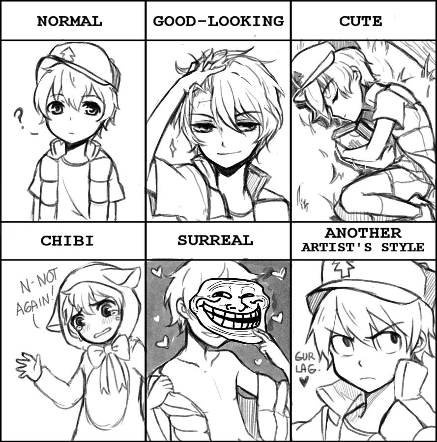 Pixiv style meme! DIPPER! by Izzu-shi