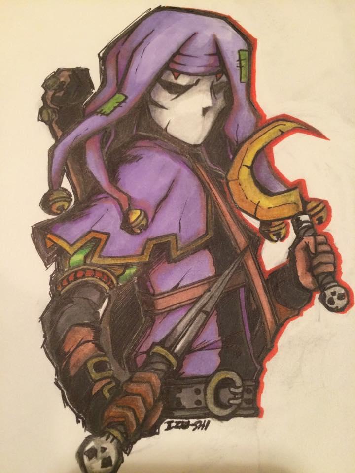 Darkest Dungeon: Jester by Izzu-shi