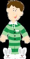 Steve in His Pyjamas