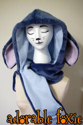 Stitch Inspired Hooded Scarf
