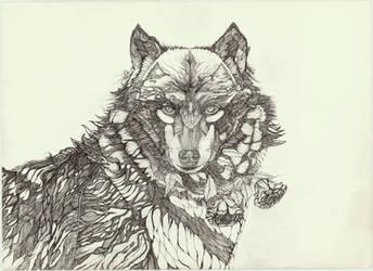 The free spirit of wolf