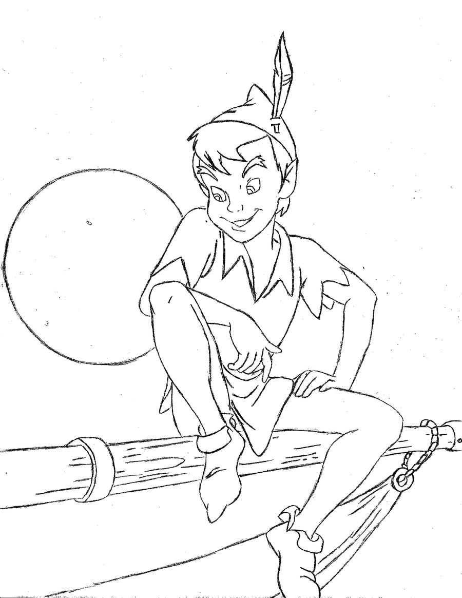 Peter pan on hook 39 s ship by b1ack bandana on deviantart for Peter pan da colorare