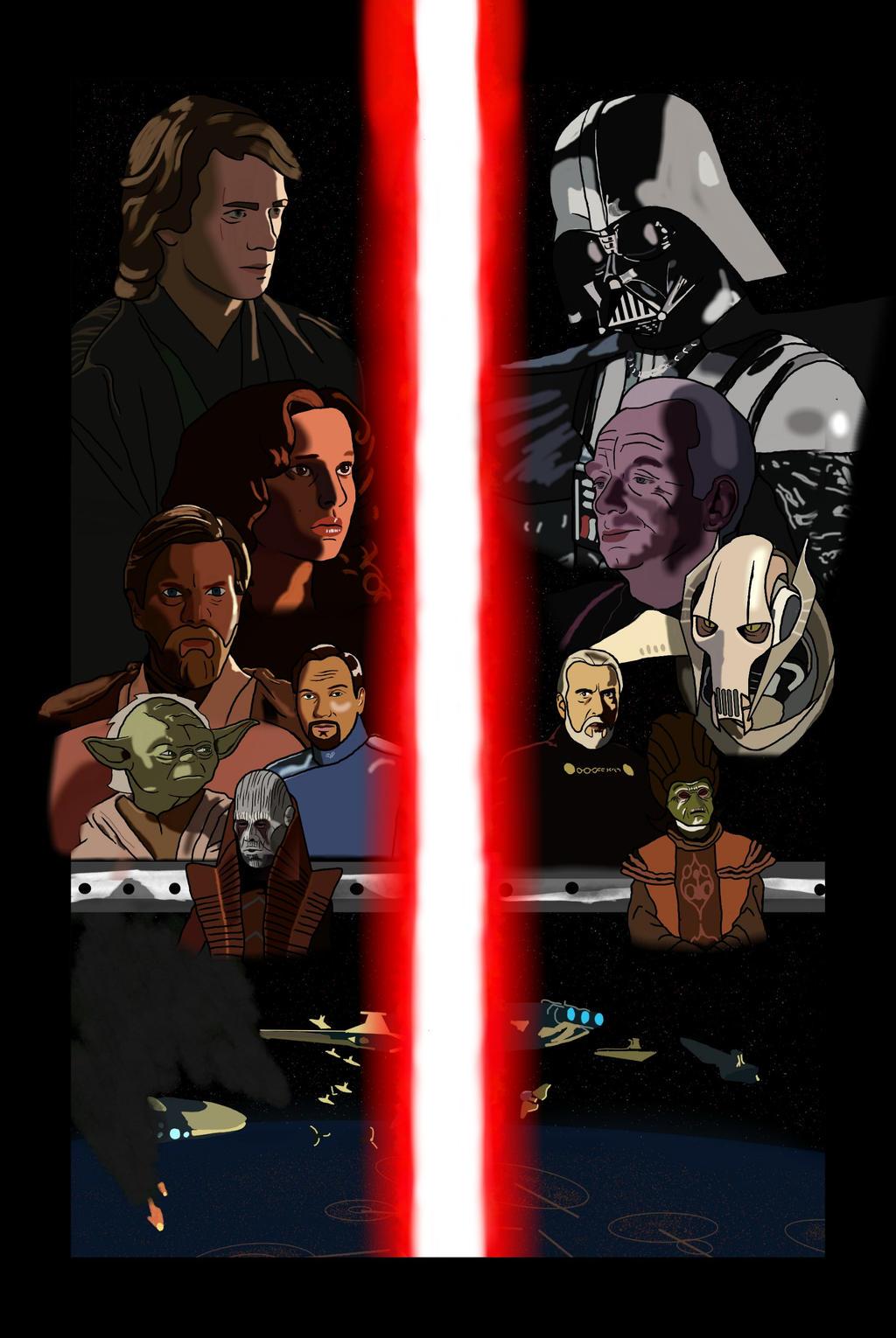 Star Wars Revenge Of The Sith Fan Poster By Starwars505 On Deviantart