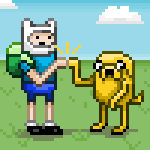 pixel Finn and Jake by TsukiOhkami