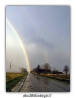 Rainbow on the road by XtraVagAnT