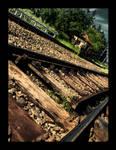 Railway rocks