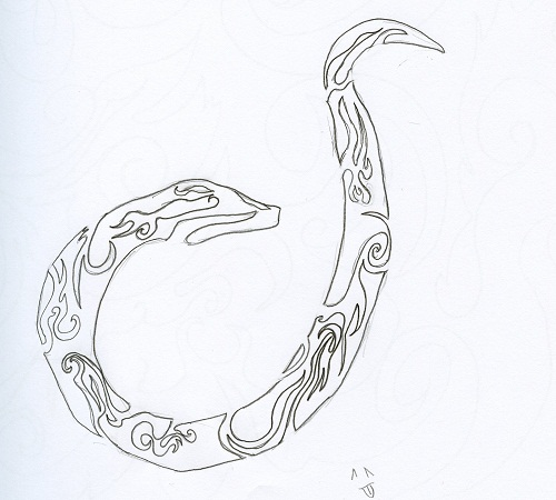 Simple Snake Sketch By Blueeyes42