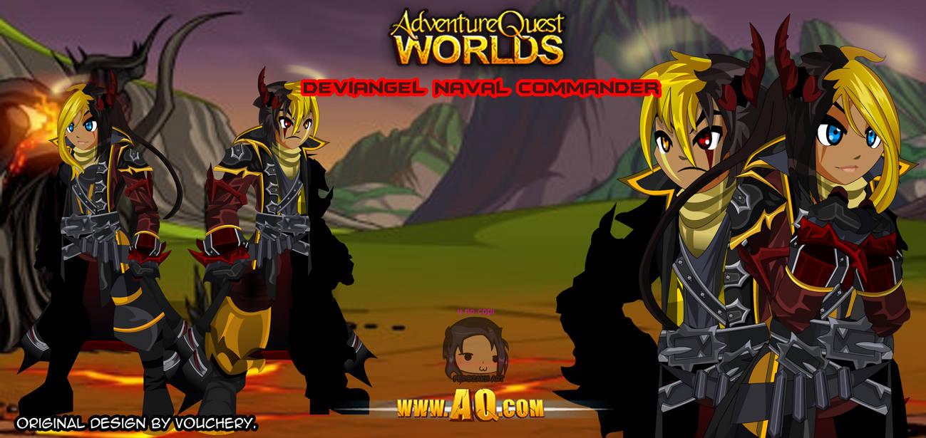 AQWorlds- DeviAngel Naval Commander by far0zuk on DeviantArt