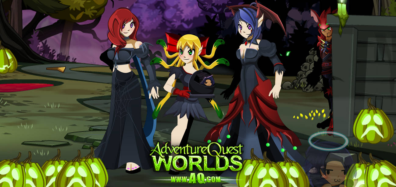 AQWorlds- Mogloween Girls' Poster (remade) by far0zuk on