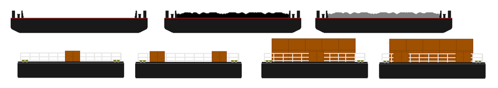Sodor River Barges Sprites by wyattloughrie