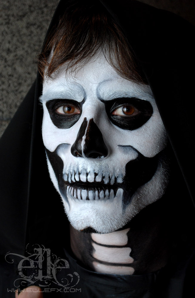 Gothic Skulls Face Paintings