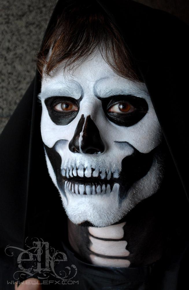skull face paint by ellefx on deviantart. Black Bedroom Furniture Sets. Home Design Ideas