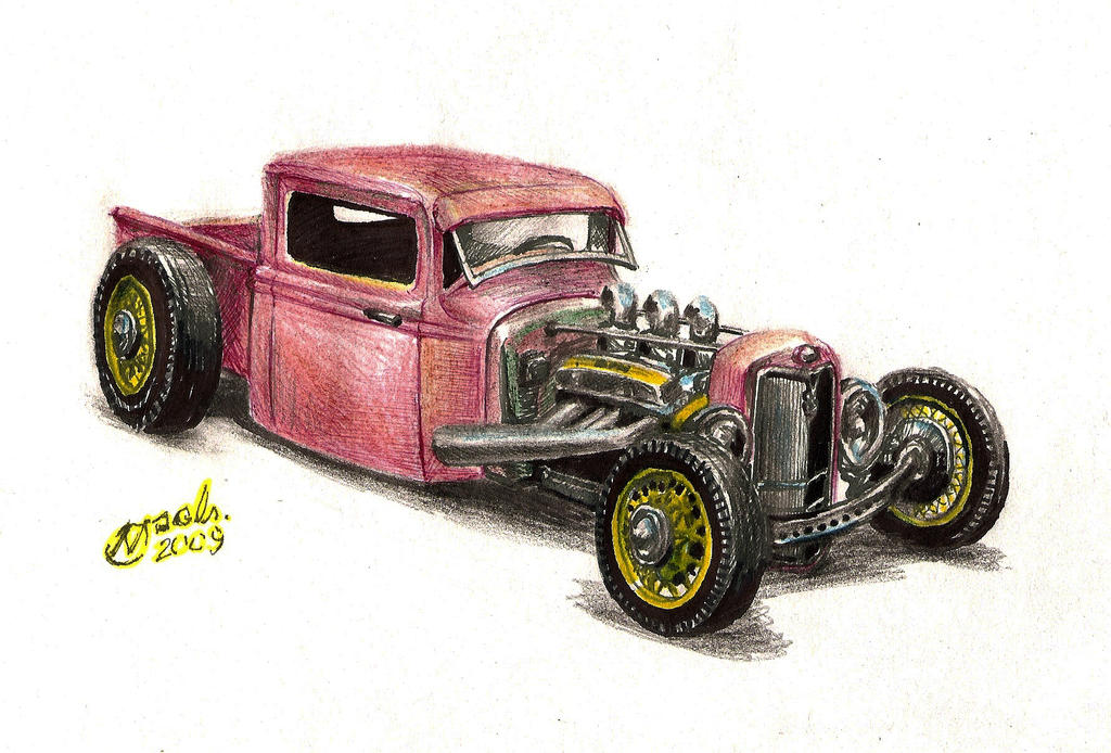 1934 Ford Rat Rod truck by NOzols on DeviantArt