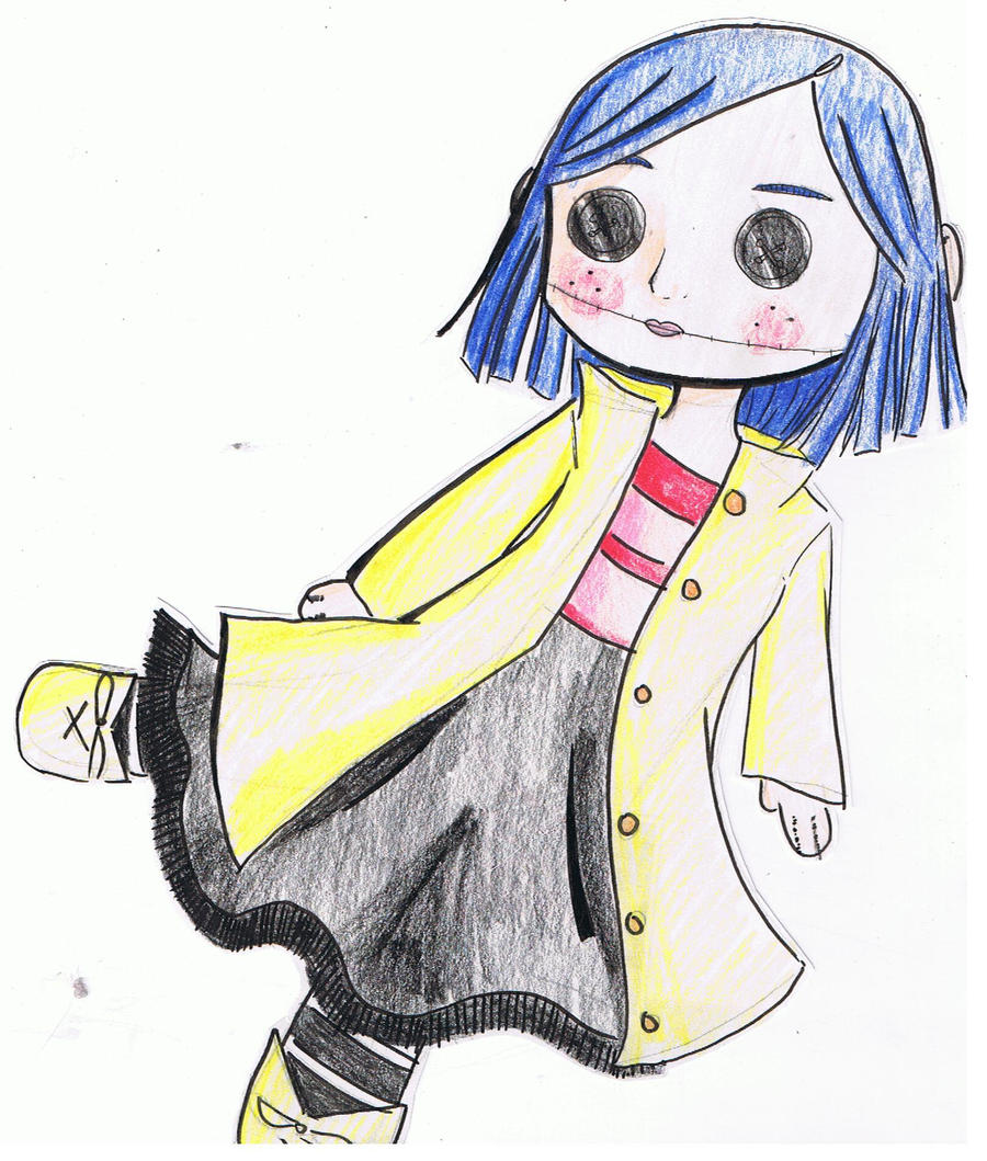 How To Draw Coraline Doll page 2