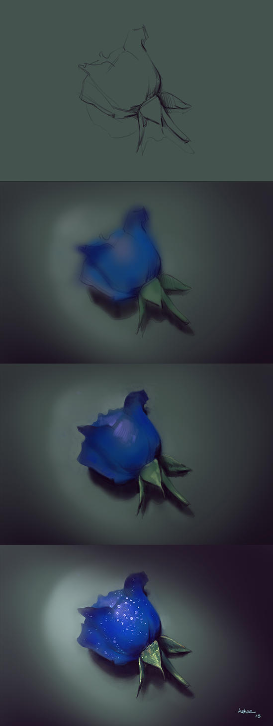 Blue rose (step) by KEKSE0719