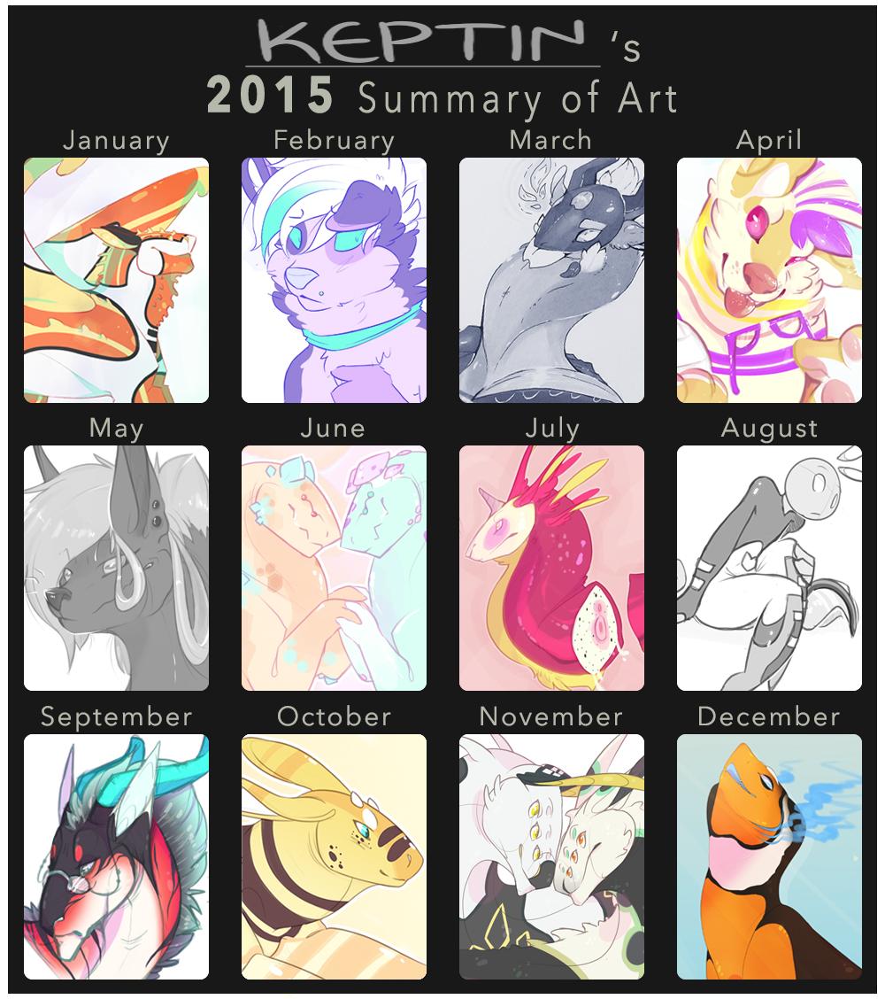 2015 Art Summary. by KeptinKeem