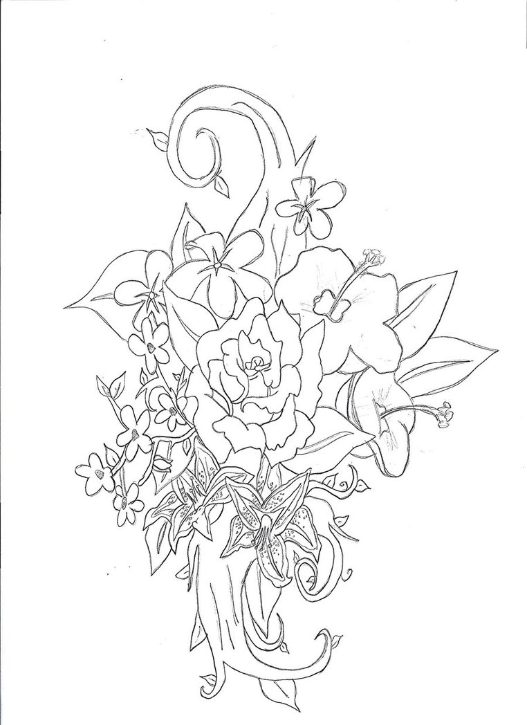Line Art Flower Tattoo : Line art flower tattoo by reishimizuumi on deviantart