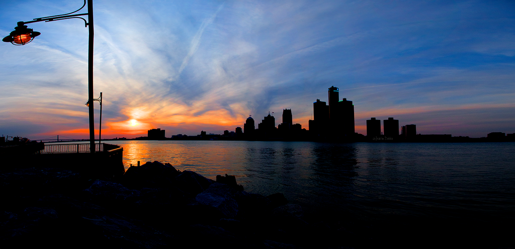 Sunset over Detroit by JessicaDobbs
